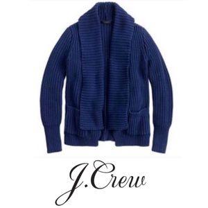 J. Crew Rib Stitch Open Cardigan Petite PS Chunky